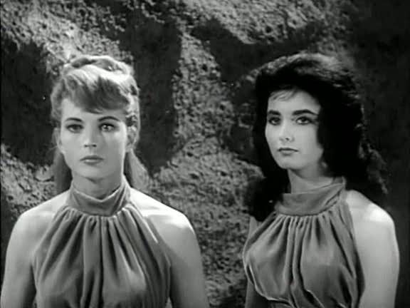 Coleen Gray and Dolores Faith in The Phantom Planet (1961)
