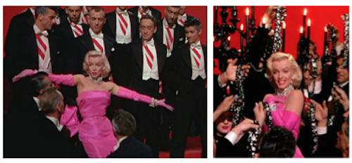 Future Oscar-winner George Chakiris at far right in Marilyn's chorus