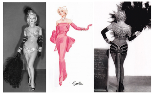 Joseph C. Wright's original art direction for marilyn monroe gentlemen prefer blondes