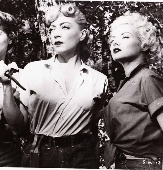 Marie Windsor and Jil Jarmyn in Swamp Diamonds (1956)