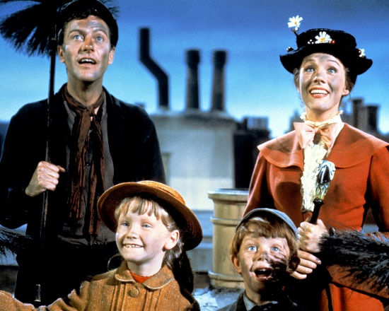 Mary Poppins (1964) Dick Van Dyke, Julie Andrews, Karen Dotrice and Matthew Garber