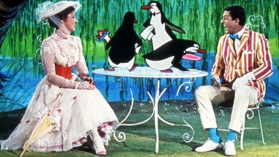 Mary Poppins (1964) Julie Andrews, Dick Van Dyke, Penguins