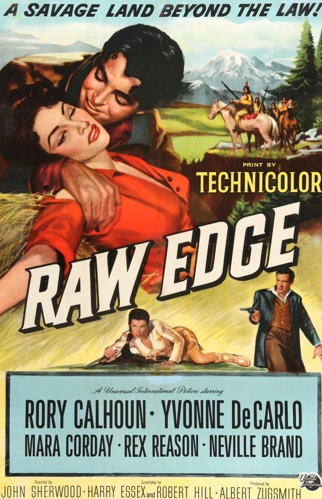 Raw Edge (1956) movie poster