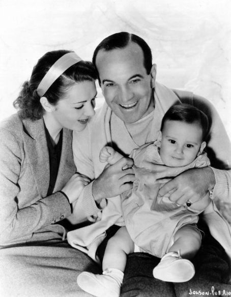 Ruby Keeler, Al Jolson, and their adopted son