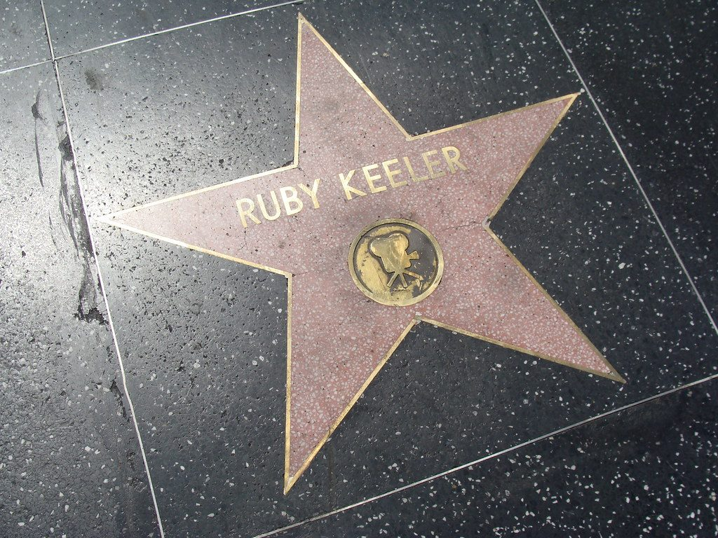 Ruby Keeler's star on the Hollywood Walk of Fame