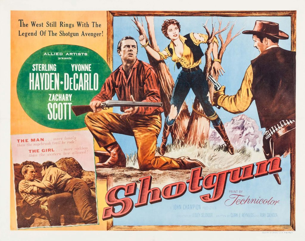 Shotgun (1955) movie poster