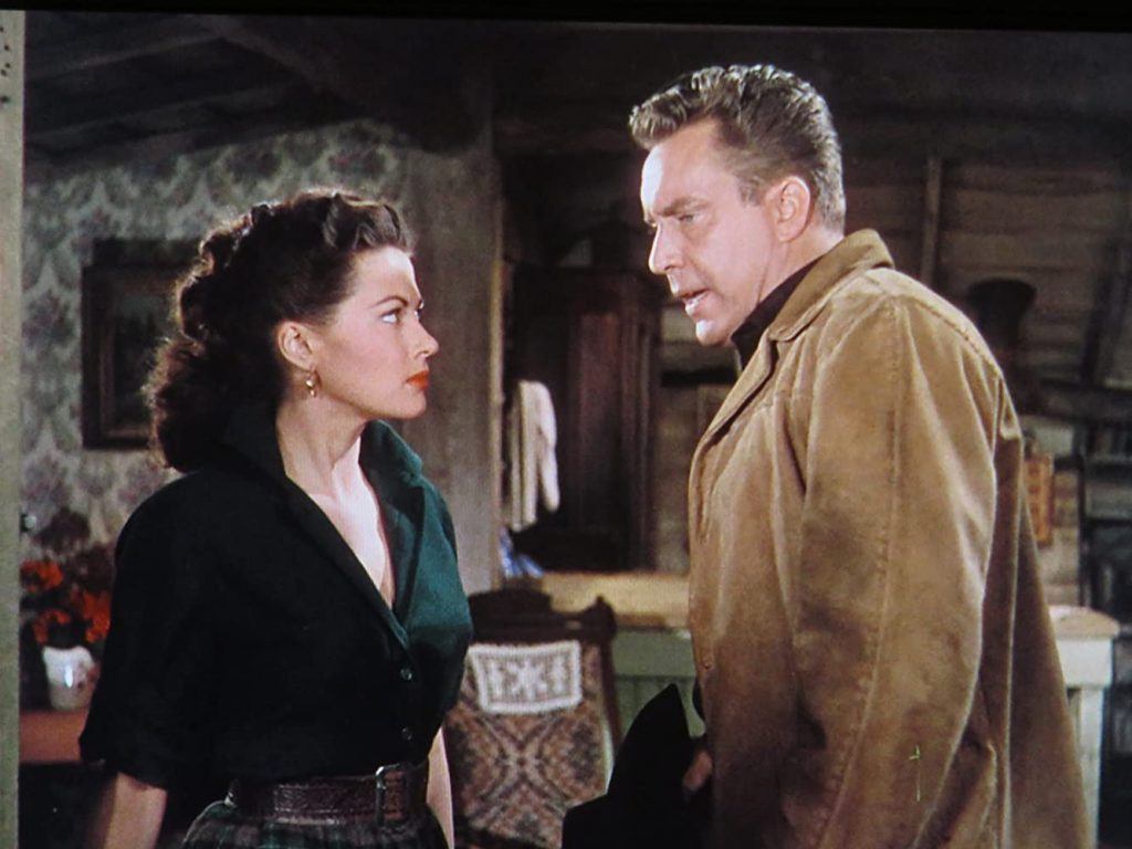 De Carlo and Edmond O'Brien in Silver City (1951)