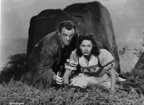 Van Helfin and Yvonne De Carlo in Tomahawk (1951)