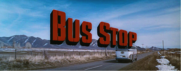 bus stop title treatment