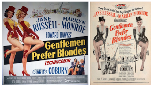 gentlemen prefer blondes movie posters
