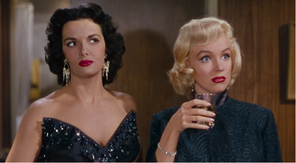 jane russell and marilyn monroe gentlemen prefer blondes russell black sequin dress