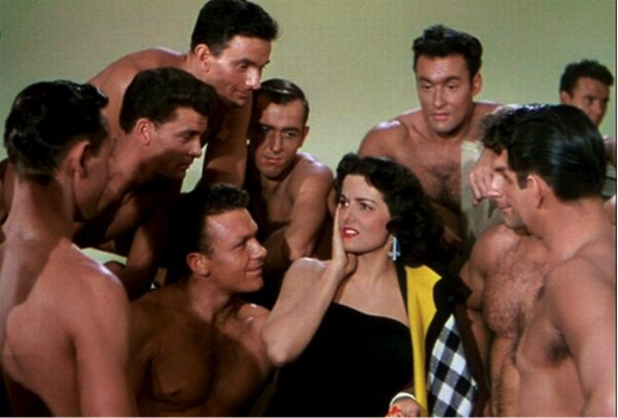 "jane russell and olympic team gentlemen prefer blondes ""Ain't There Anyone Here for Love?"""