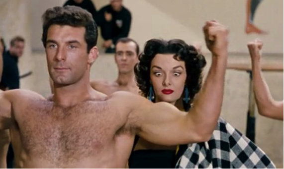 jane russell and the Olympic Team Gentlemen Prefer Blondes