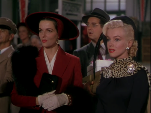 jane russell marilyn monroe gentlemen prefer blondes russell red dress