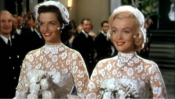 jane russell marilyn monroe gentlemen prefer blondes wedding dresses