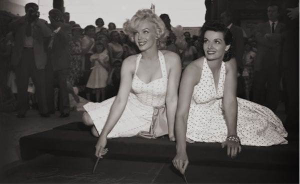 marilyn monroe and jane russell graumans chinese theater imprint ceremony