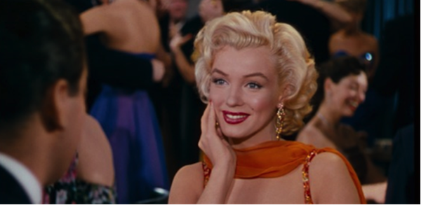 marilyn monroe gentlemen prefer blondes orange dress 3