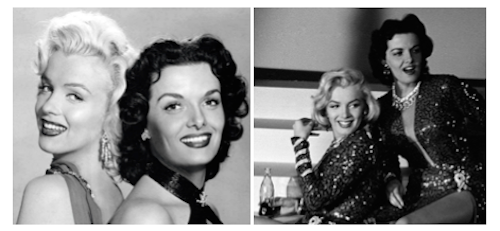 marilyn monroe jane russell gentlemen prefer blondes montage