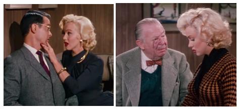 tommy noonan, marilyn monroe, charles coburn gentlemen prefer blondes montage