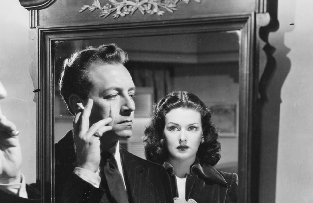 Paul Henreid and Joan Bennett in Hollow Triumph (1948)