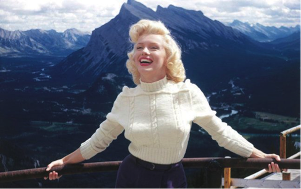 marilyn monroe river of no return on location