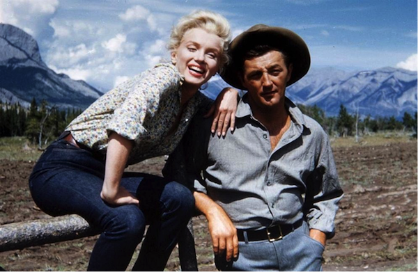 marilyn monroe robert mitchum river of no return on location 2