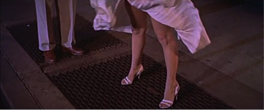 seven year itch marilyn monroe grate