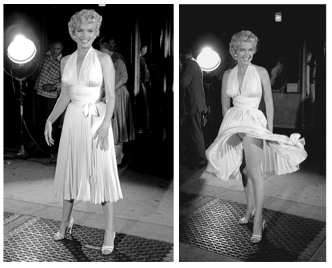 seven year itch marilyn monroe subway grate montage