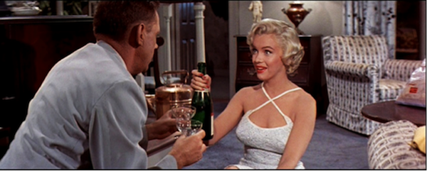 seven year itch marilyn monroe tom ewell champagne 12