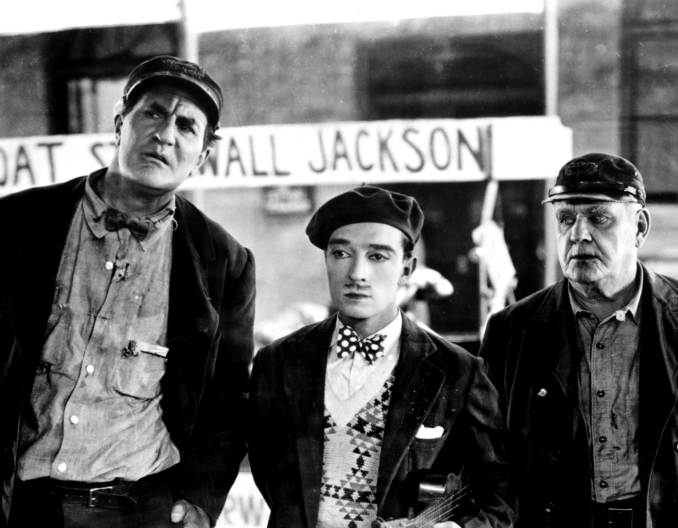 Ernest Torrence and Buster Keaton in Steamboat Bill Jr. (1928)