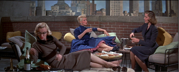 How to Marry a Millionaire Monroe Grable Bacall NYC rooftop balcony scenepng