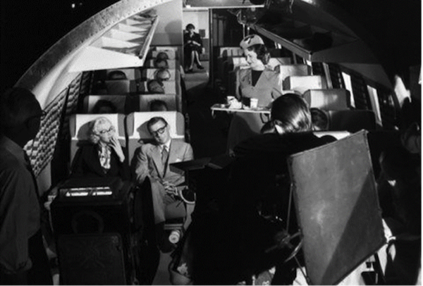How to Marry a Millionaire behind the scenes filming Monroe David Wayne airplane scene