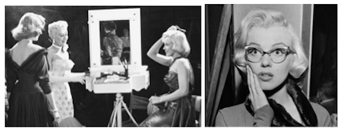 How to Marry a Millionaire behind the scenes makeup mirror Bacall Grable Monroe