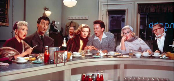 How to Marry a Millionaire diner scene with boyfriends