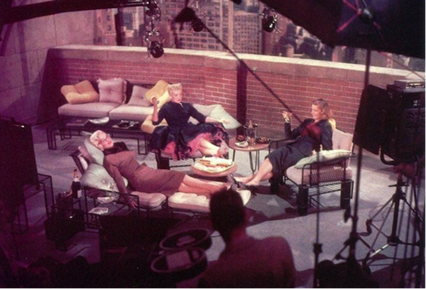 How to Marry a Millionaire filming balcony scene Bacall Monroe Grable