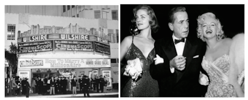 How to Marry a Millionaire premiere Bacall Bogart Monroe