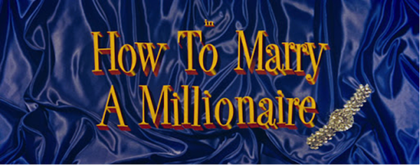 How to Marry a Millionaire title treatment