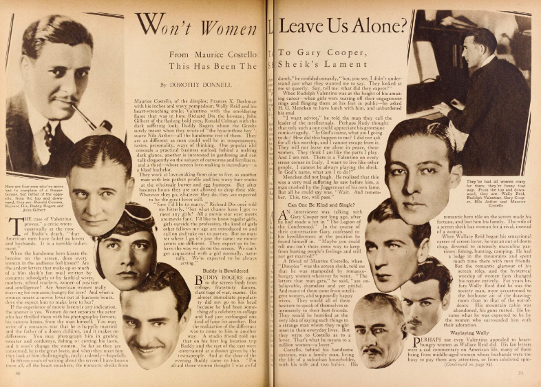 Motion Picture Classic Article June 1929