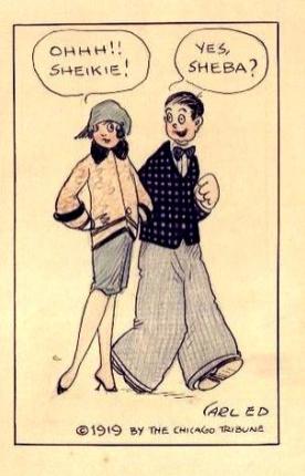 The Chicago Tribune Sheik Cartoon 1919