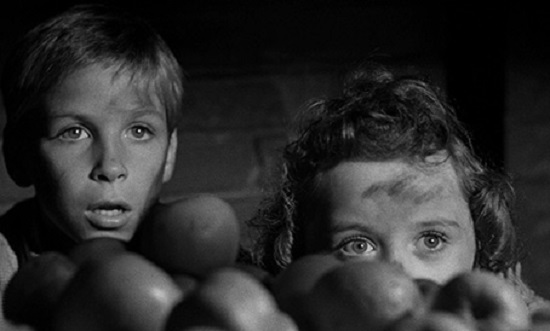 The Night of the Hunter (1955) Billy Chapin and Sally Jane Bruce