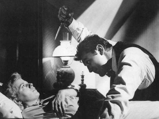 The Night of the Hunter (1955) Robert Mitchum and Shelley Winters