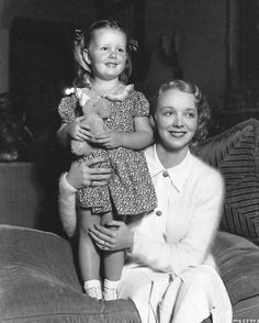 Virginia Bruce and her daughter, Susan Ann