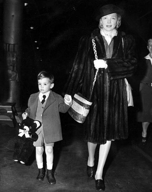 Virginia Bruce and her son, Christopher Ruben