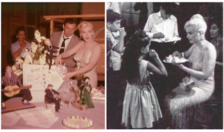 marilyn monroe celebrates 34th birthday on the set of let's make love