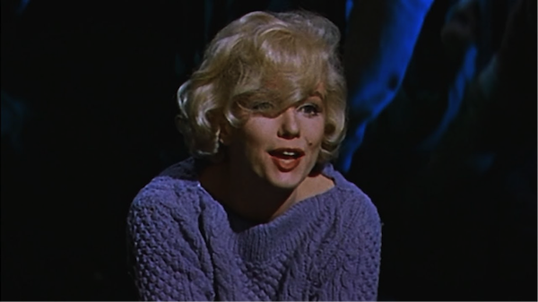 marilyn monroe lets make love blue sweater