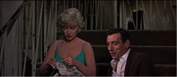 marilyn monroe yves montand let's make love 5