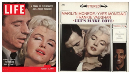 marilyn monroe yves montand, life magazine, album cover