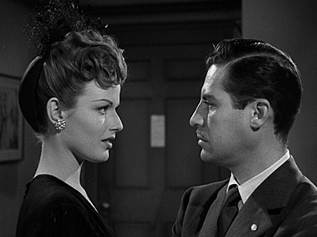 John Hodiak and Margot Woode in Somewhere in the Night (1946)