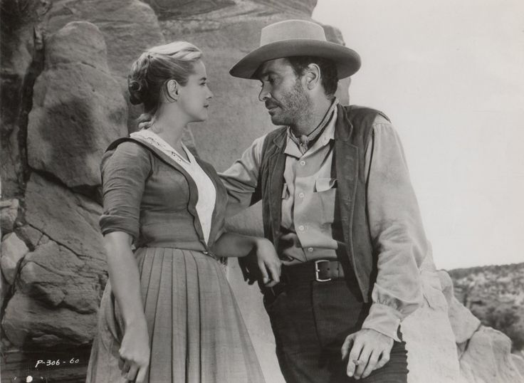 Mona Freeman and Barry Sullivan in Dragoon Wells Massacre (1957)