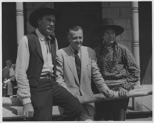 James Bacon Gary Cooper on set of High Noon